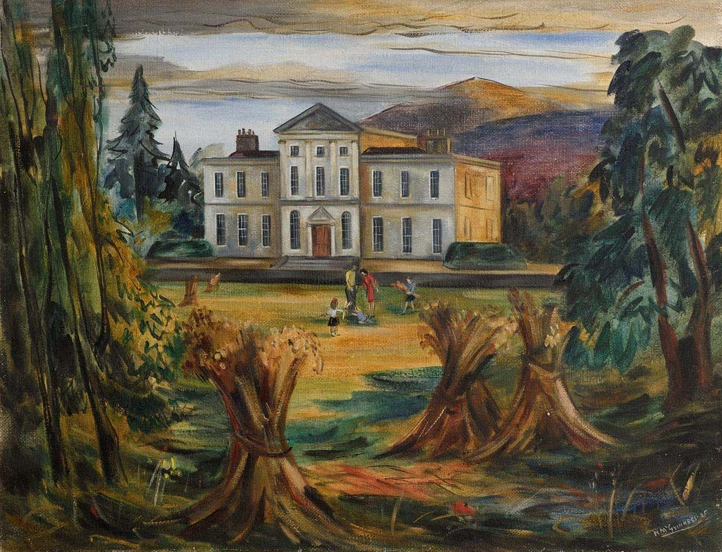 Norah McGuinness, Charleville House, Enniskerry, Co Wicklow (1945) at Morgan O'Driscoll Art Auctions