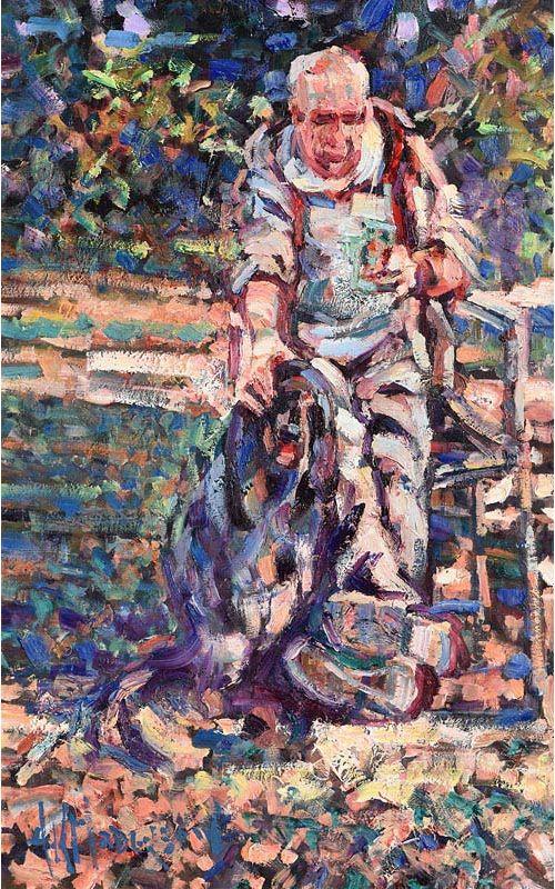 Arthur K. Maderson, One Man & His Dog at Morgan O'Driscoll Art Auctions