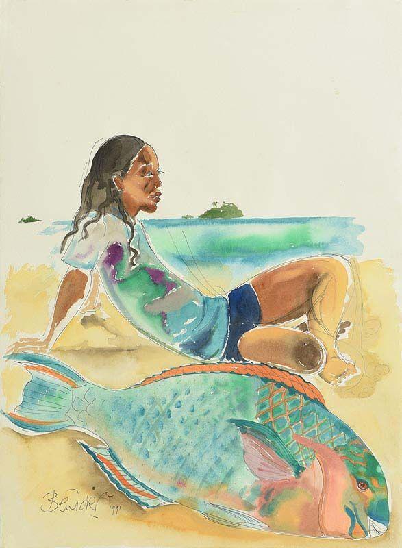 Pauline Bewick, Parrot Fish, South Sea's at Morgan O'Driscoll Art Auctions