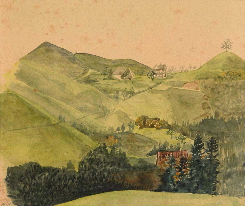 Nano Reid, Mountain Landscape at Morgan O'Driscoll Art Auctions