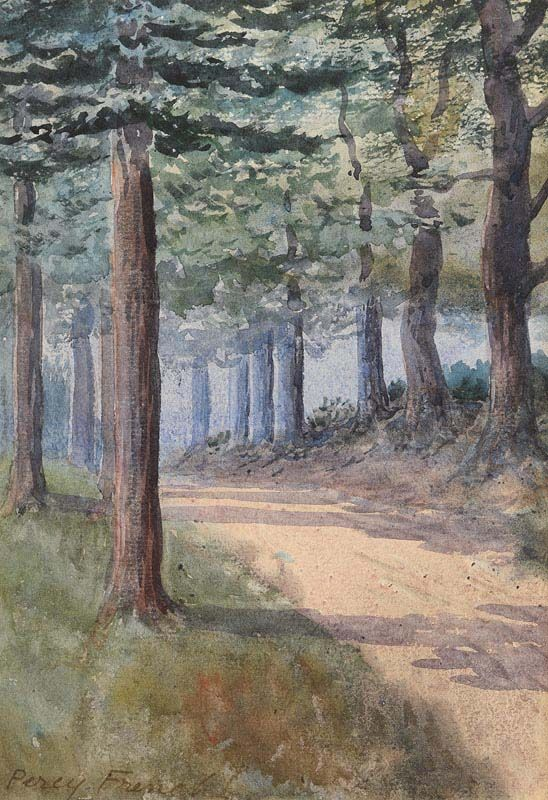 Percy French, A Wooded Pathway at Morgan O'Driscoll Art Auctions