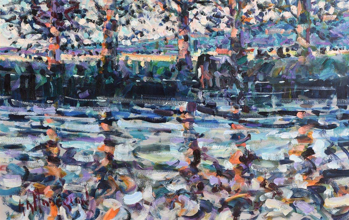 Arthur K. Maderson, September Evening, The Canal, France at Morgan O'Driscoll Art Auctions