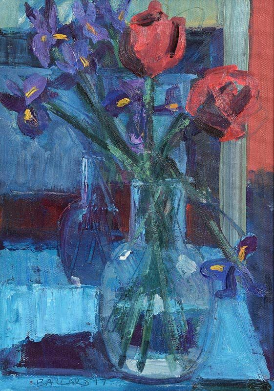 Brian Ballard, Tulips in a Vase at Morgan O'Driscoll Art Auctions