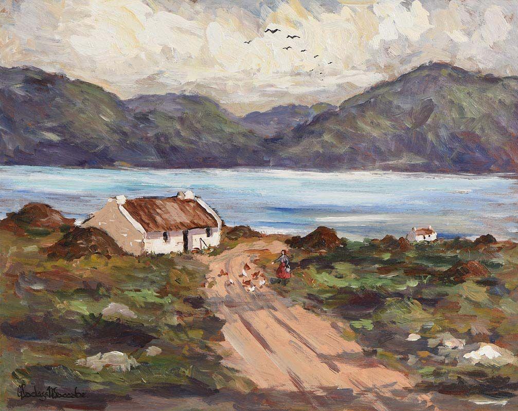 Gladys MacCabe, Feeding the Hens at Morgan O'Driscoll Art Auctions
