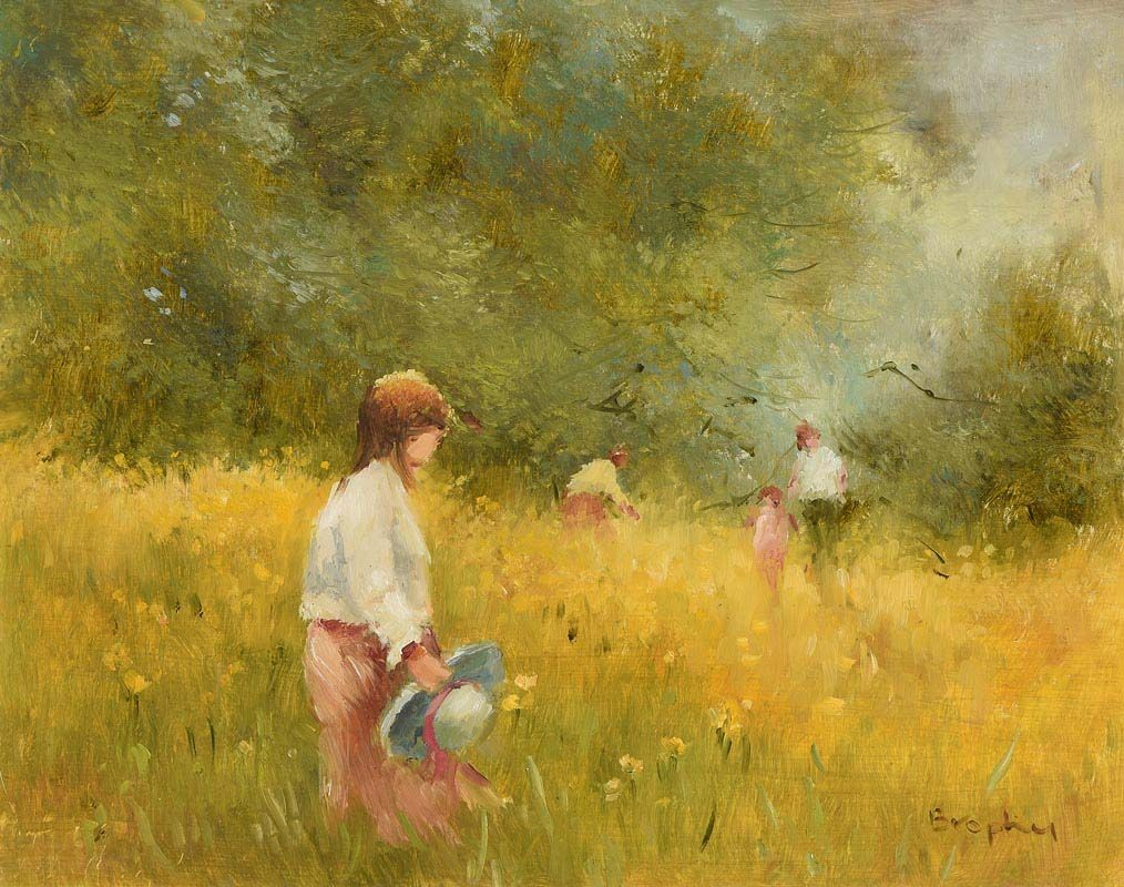 Elizabeth Brophy, Field of Gold at Morgan O'Driscoll Art Auctions