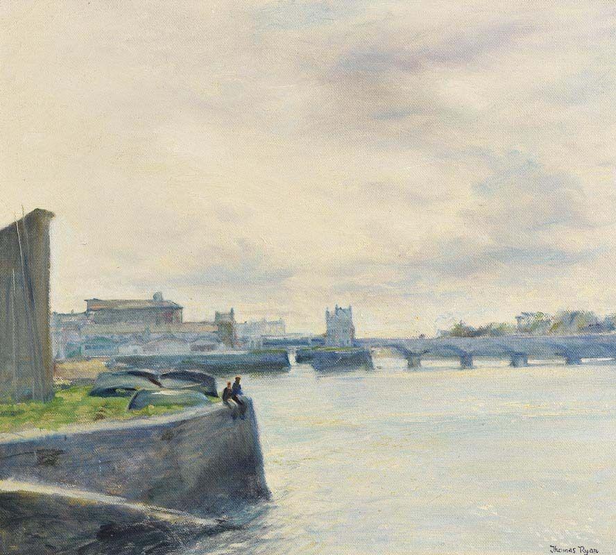 Thomas Ryan, The Shannon at Limerick (1969) at Morgan O'Driscoll Art Auctions