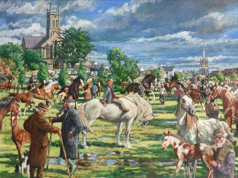 Roy Lyndsay, Ballinasloe Fair (2014) at Morgan O'Driscoll Art Auctions