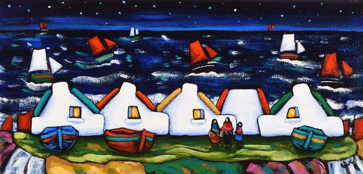 Annie Robinson, Night Time Sails at Morgan O'Driscoll Art Auctions