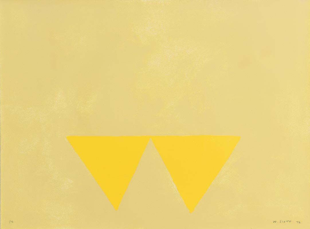 William Scott, First Triangles at Morgan O'Driscoll Art Auctions