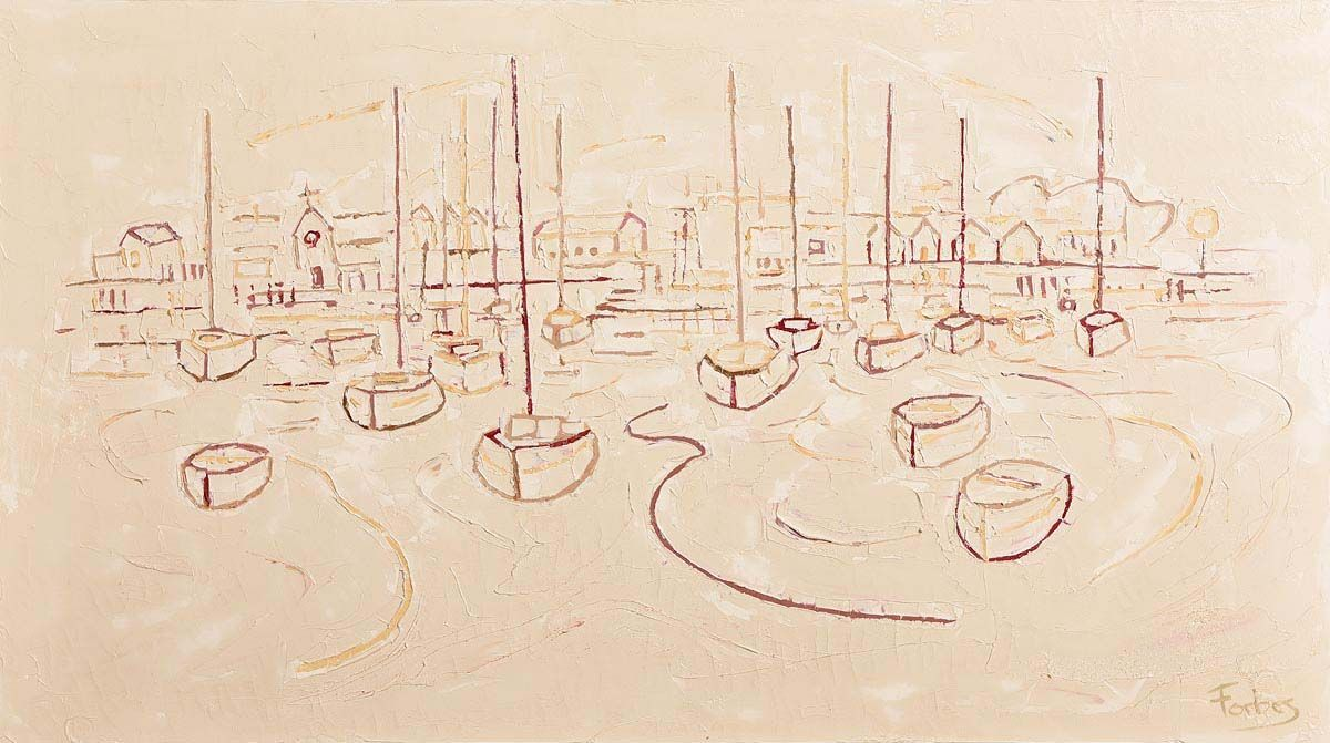 Stephen Forbes, Groomsport Town and Harbour at Morgan O'Driscoll Art Auctions