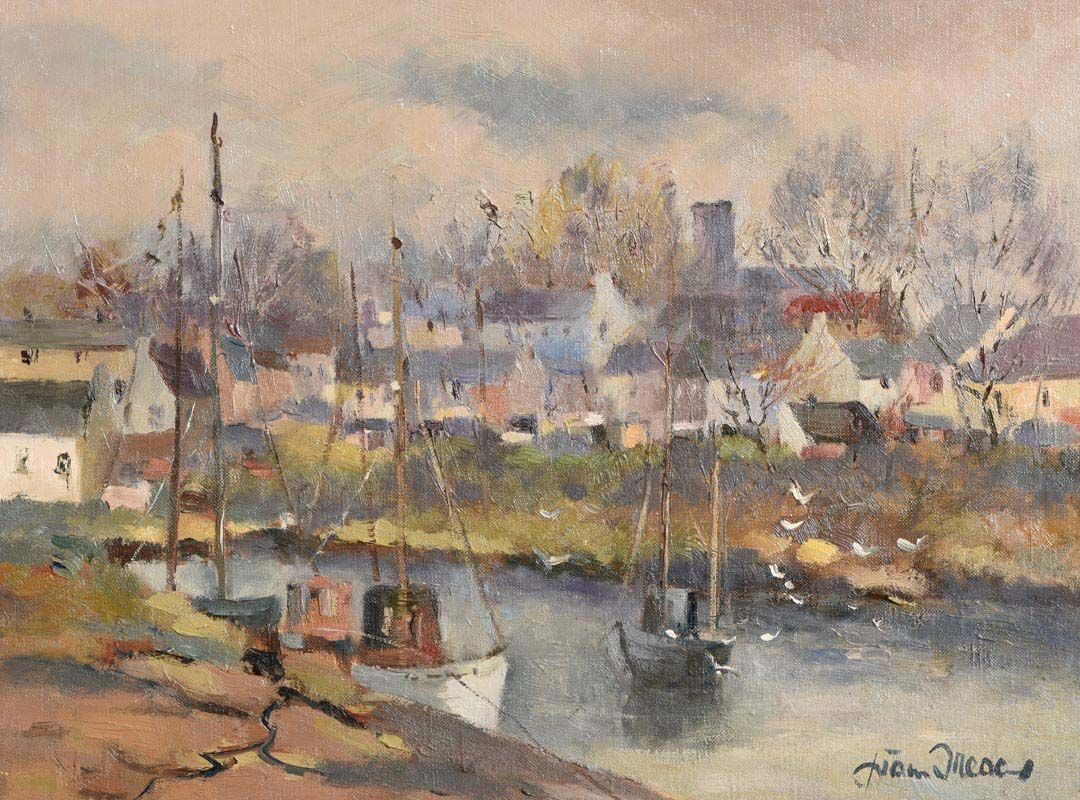 Liam Treacy, The Harbour at Roundstone (1981) at Morgan O'Driscoll Art Auctions