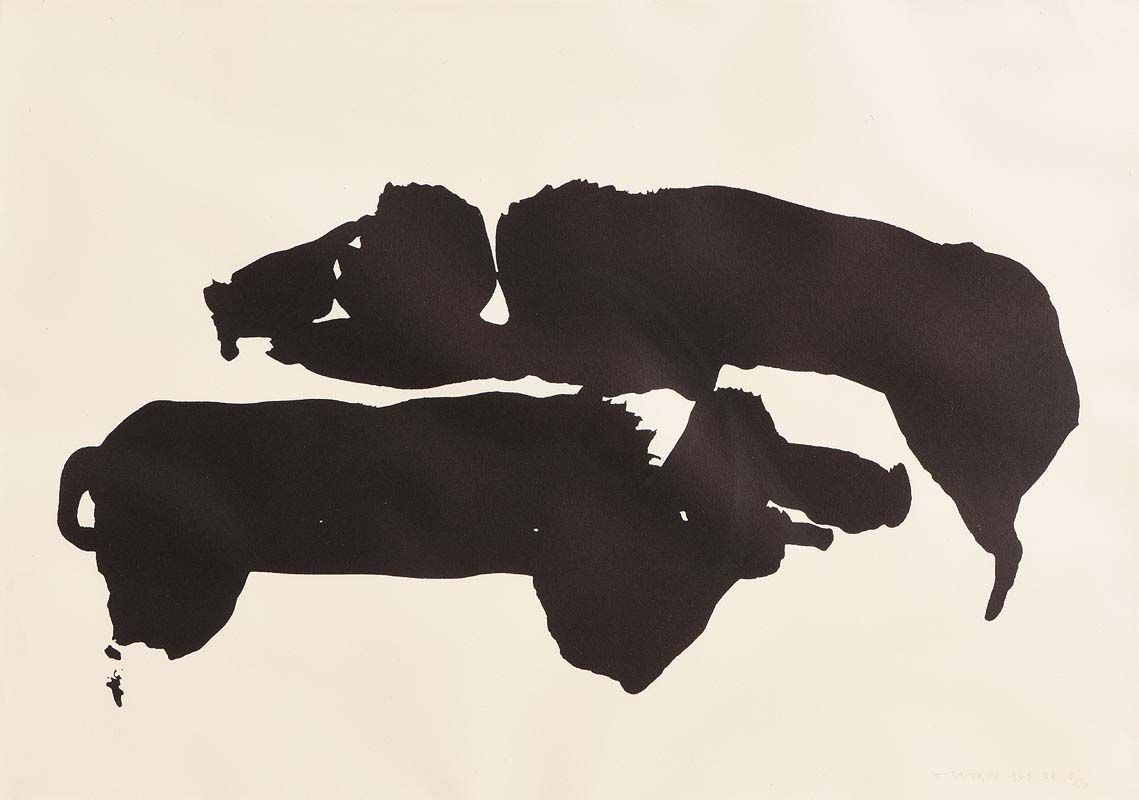 Louis Le Brocquy, Pigs (1969) at Morgan O'Driscoll Art Auctions