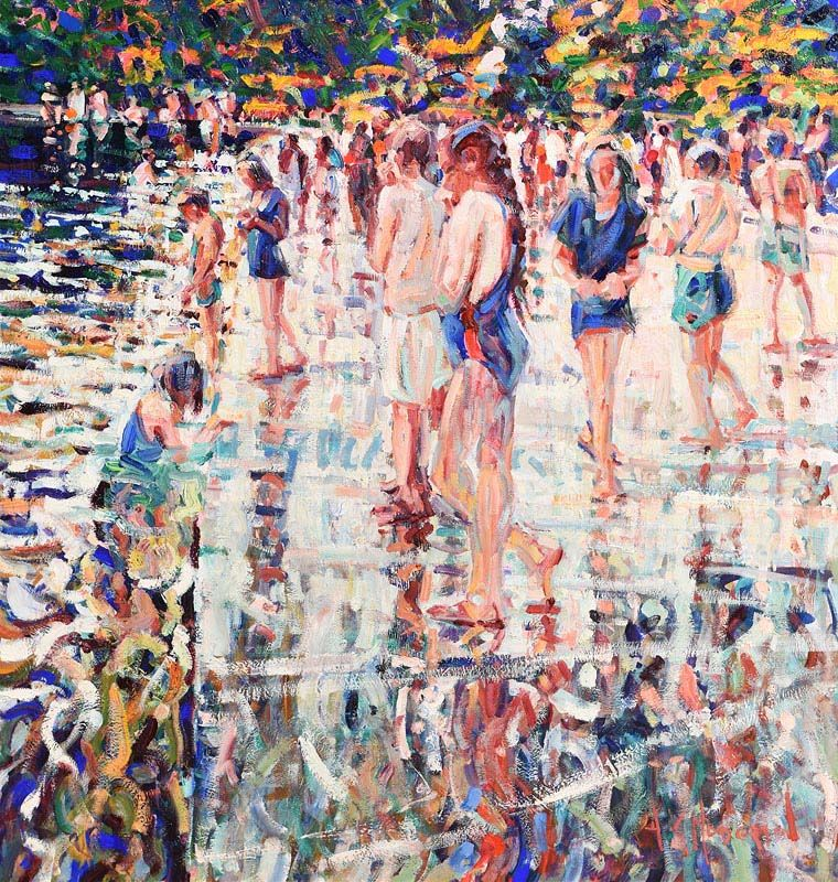 Arthur K. Maderson, Late Evening Lismore River Pool at Morgan O'Driscoll Art Auctions