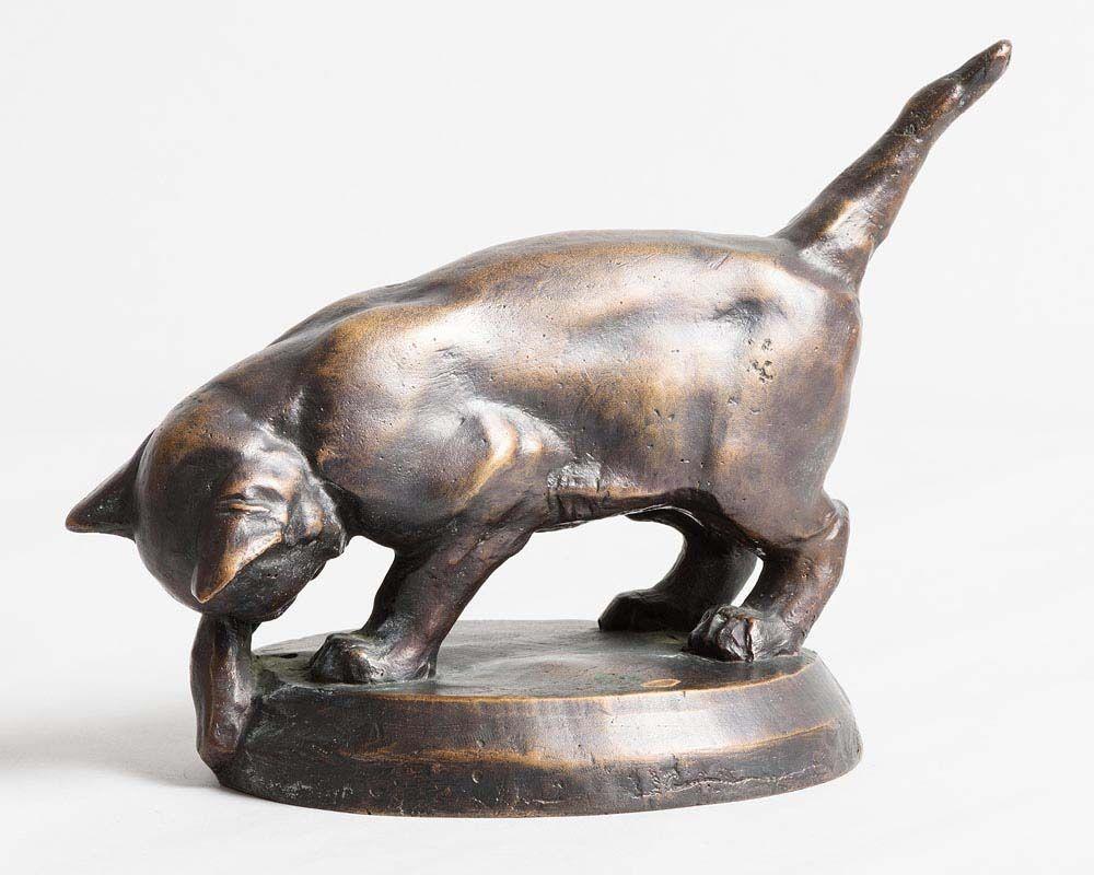 Willy Zugel, Playful Kitten at Morgan O'Driscoll Art Auctions