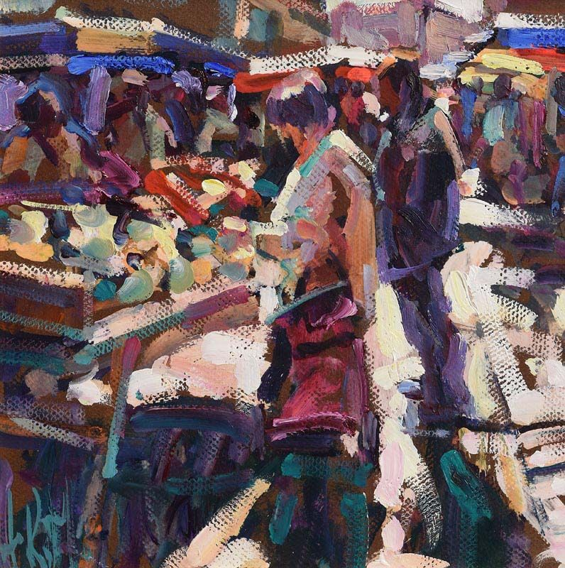 Arthur K. Maderson, Market Day, Le Vigan, France at Morgan O'Driscoll Art Auctions