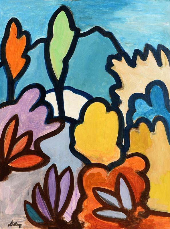 Markey Robinson, Abstract Flowers at Morgan O'Driscoll Art Auctions