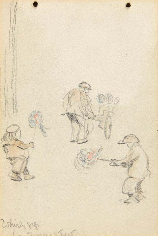 Jack Butler Yeats, Whirly Gigs (The Concert verso) at Morgan O'Driscoll Art Auctions