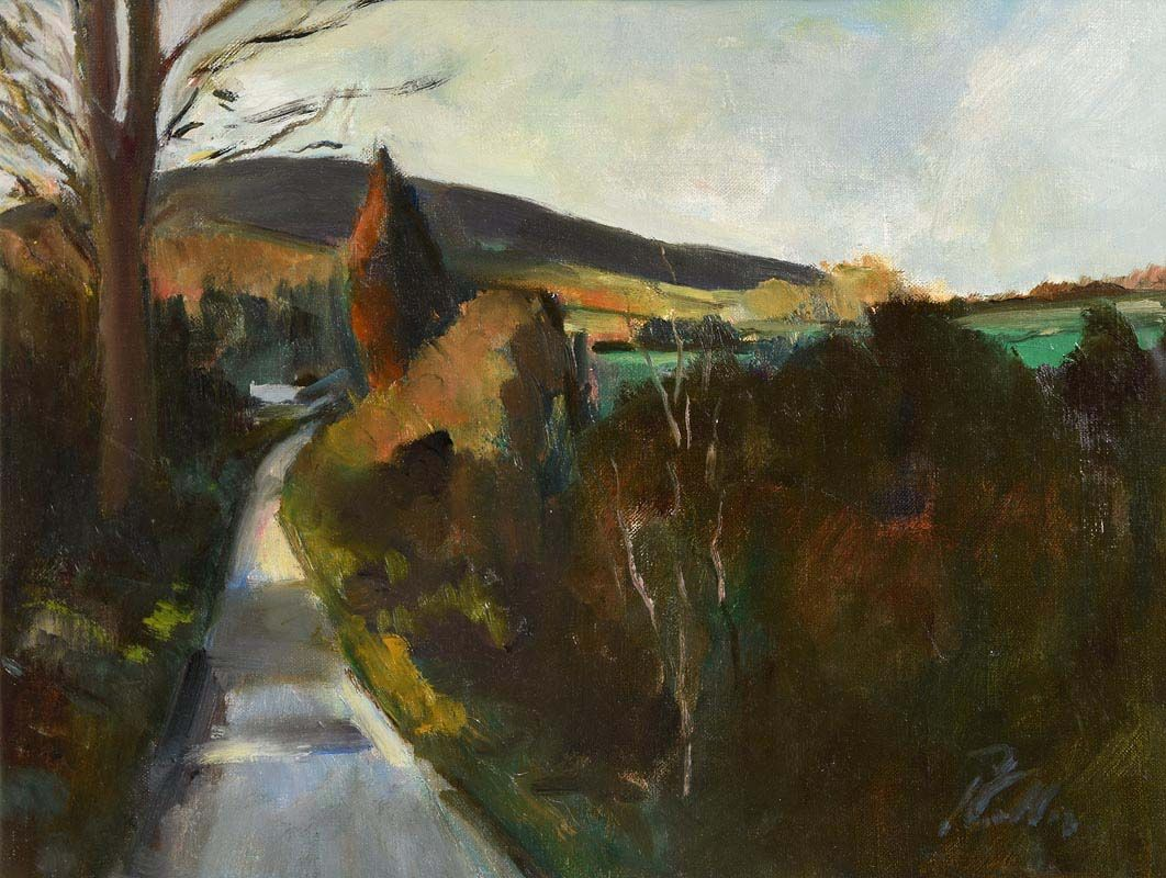 Peter Collis, The High Road from Roundwood at Morgan O'Driscoll Art Auctions