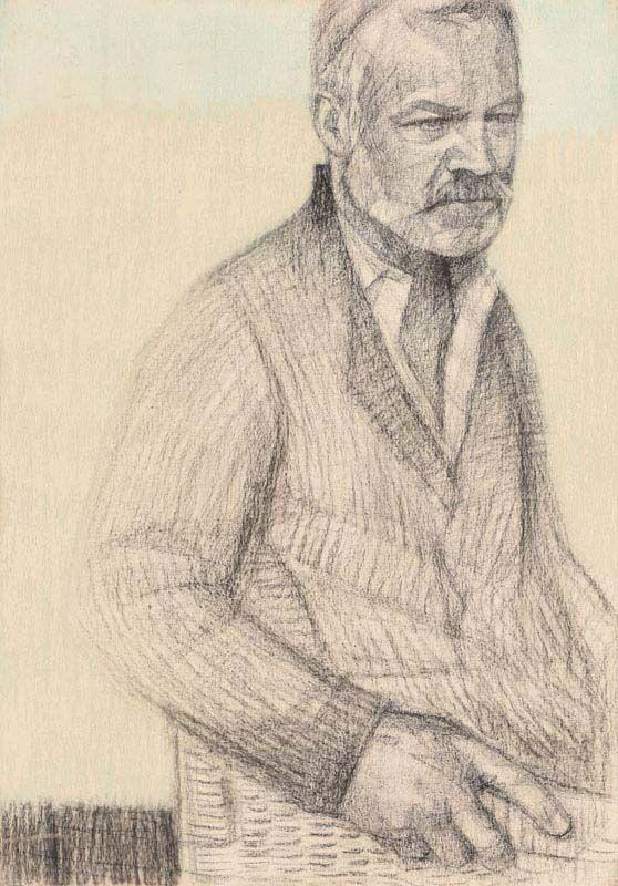 Gareth Reid, Study for a Portrait of Graham Norton (2017) at Morgan O'Driscoll Art Auctions