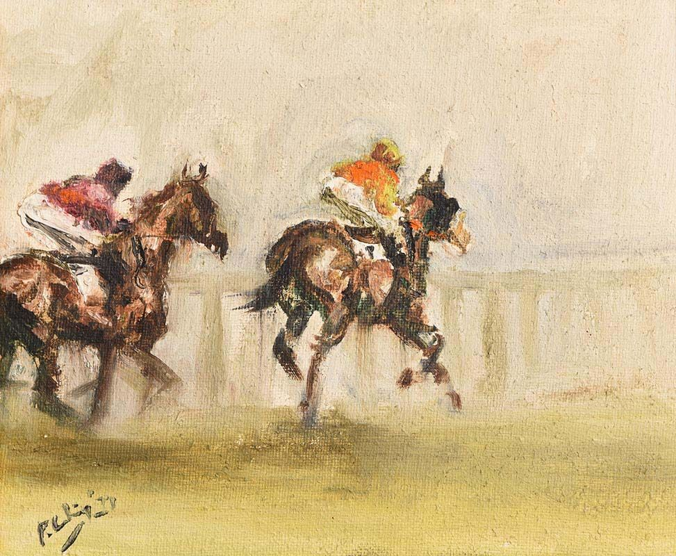 Peter Curling, Horse Racing (1971) at Morgan O'Driscoll Art Auctions