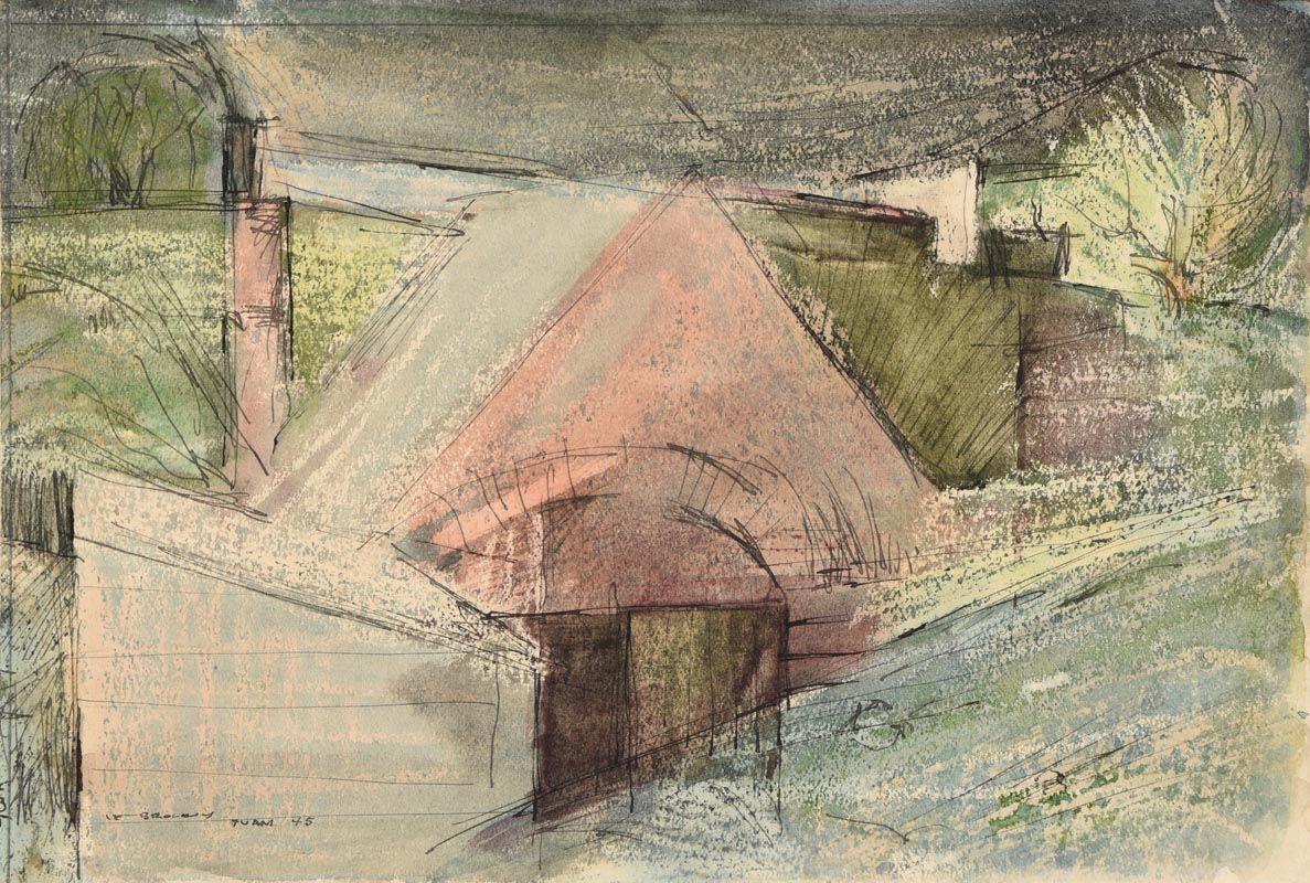 Louis Le Brocquy, Tuam (1945) at Morgan O'Driscoll Art Auctions