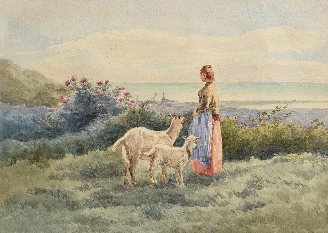 Frank McKelvey, Herding in the Hills at Morgan O'Driscoll Art Auctions