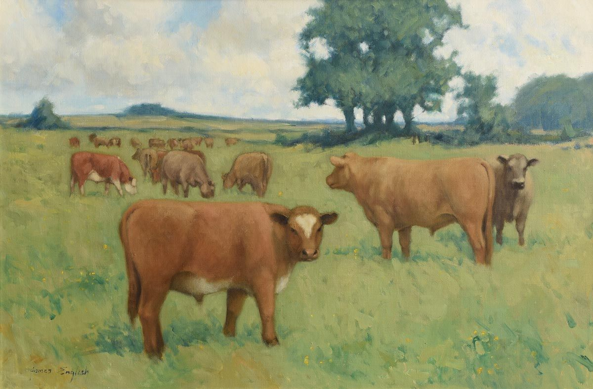 James English, Grazing in the Meadow at Morgan O'Driscoll Art Auctions