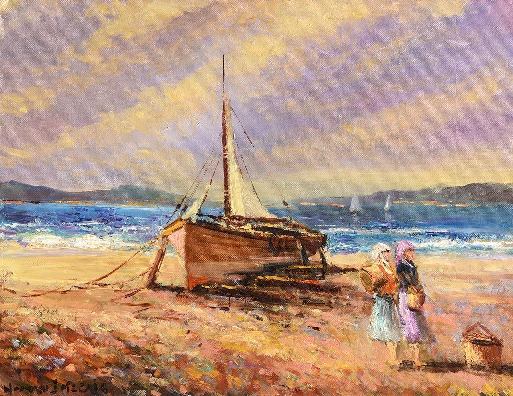 Norman J. McCaig, Sunny Day, Copeland Island at Morgan O'Driscoll Art Auctions