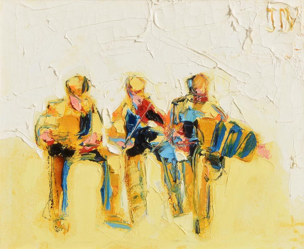 John Brian Vallely, A Trio of Trad Musicians at Morgan O'Driscoll Art Auctions