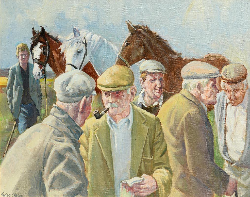 Robert Taylor Carson, Men and Horses (1987) at Morgan O'Driscoll Art Auctions