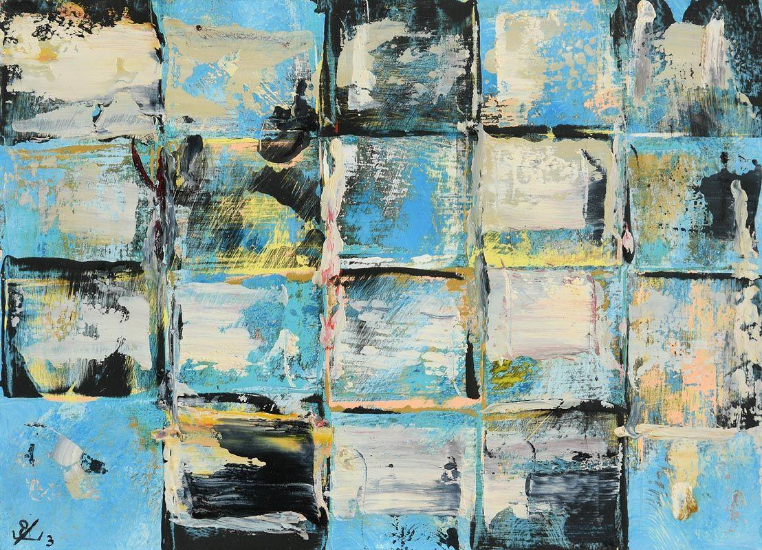 John Kingerlee, Blue Grid Outdoor (2003) at Morgan O'Driscoll Art Auctions
