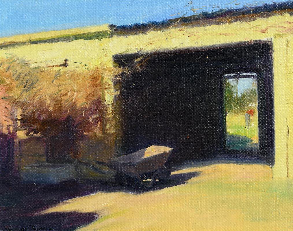 Thomas Ryan, The Yellow Shed (1981) at Morgan O'Driscoll Art Auctions