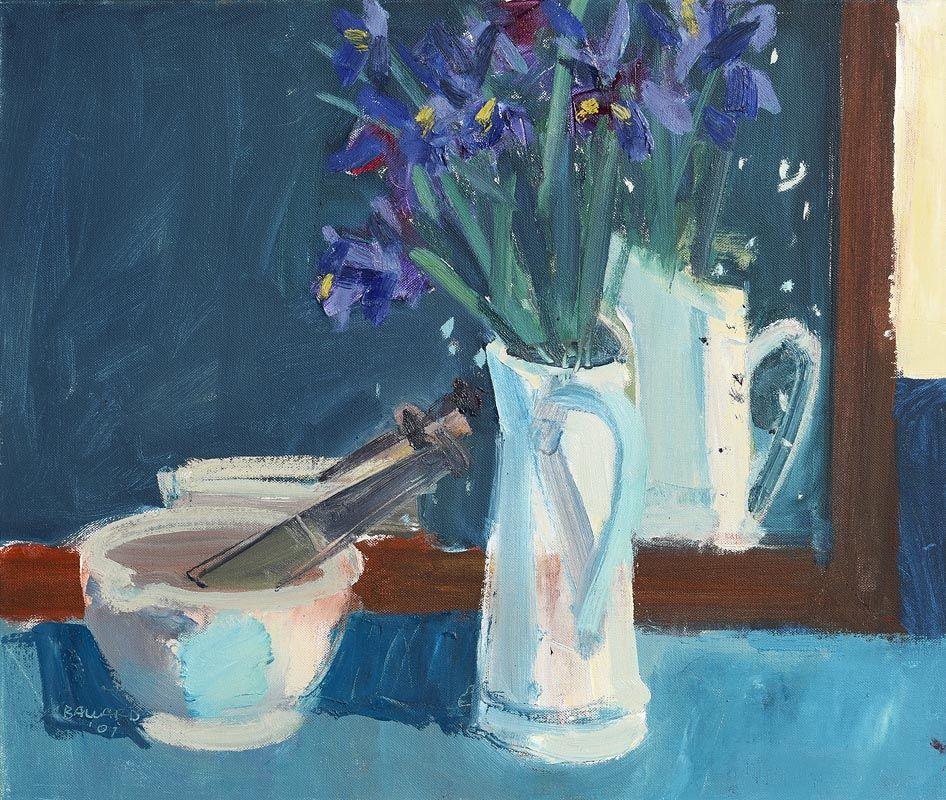 Brian Ballard, White Jug in Mirror (2001) at Morgan O'Driscoll Art Auctions