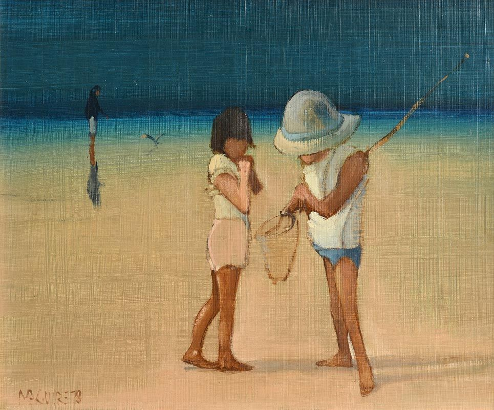 Cecil Maguire, On the Beach II (1978) at Morgan O'Driscoll Art Auctions
