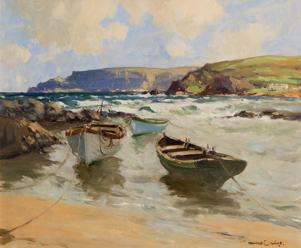 Maurice Canning Wilks, Easterly Wind, Antrim Coast, Cushendun at Morgan O'Driscoll Art Auctions