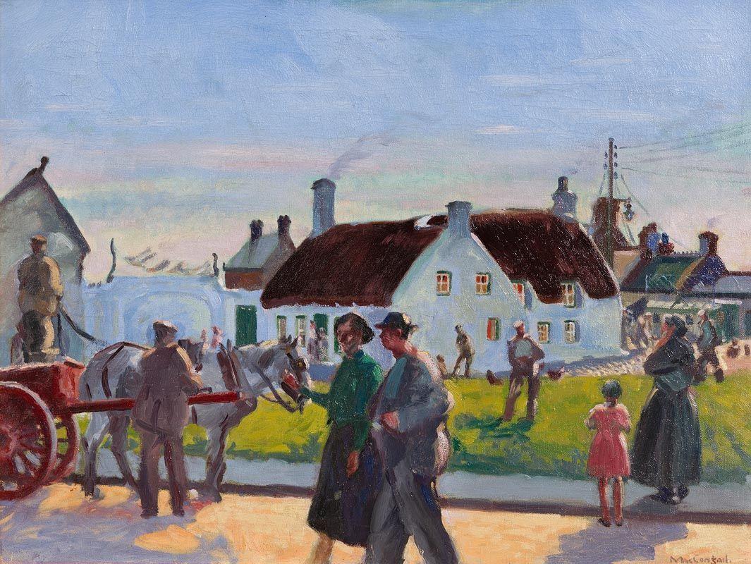 Maurice Joseph MacGonigal, Evening at Rush at Morgan O'Driscoll Art Auctions