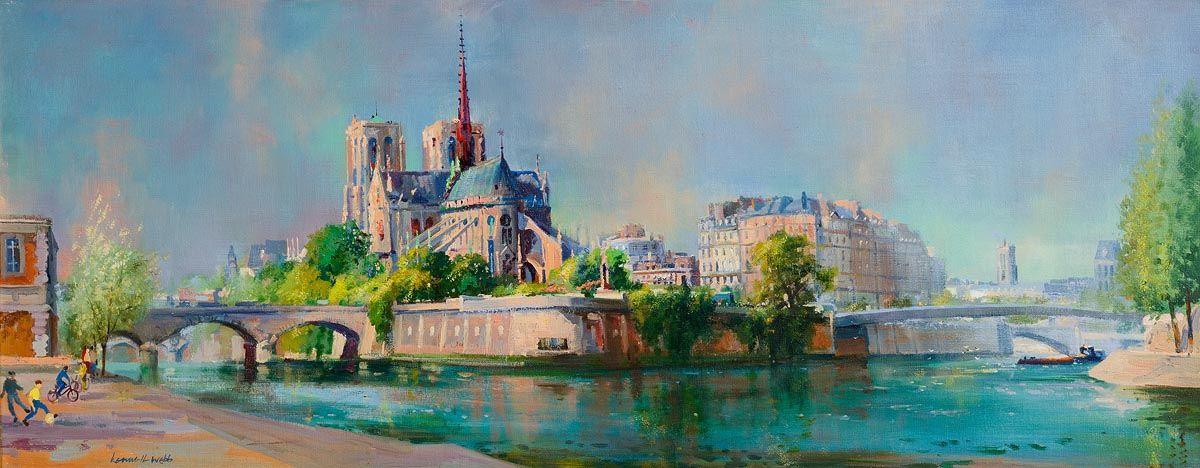 Kenneth Webb, Notre Dame, Paris at Morgan O'Driscoll Art Auctions
