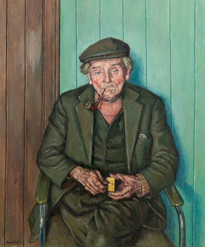 Robert Taylor Carson, Lighting Up (Wee Dan) (1985) at Morgan O'Driscoll Art Auctions