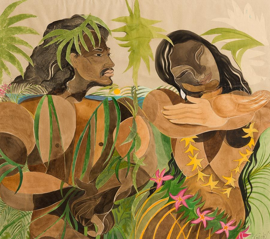 Pauline Bewick, Paradise of the South Seas (Portrait of Sherry on reverse) at Morgan O'Driscoll Art Auctions