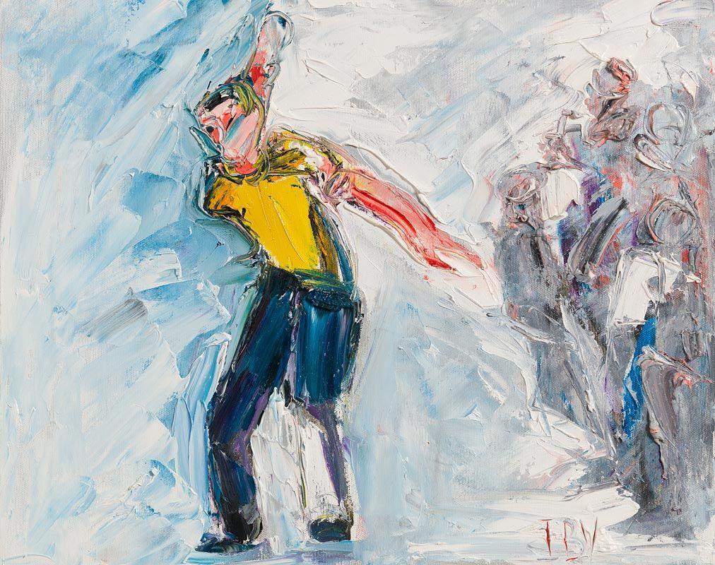 John Brian Vallely, The Bowler at Morgan O'Driscoll Art Auctions