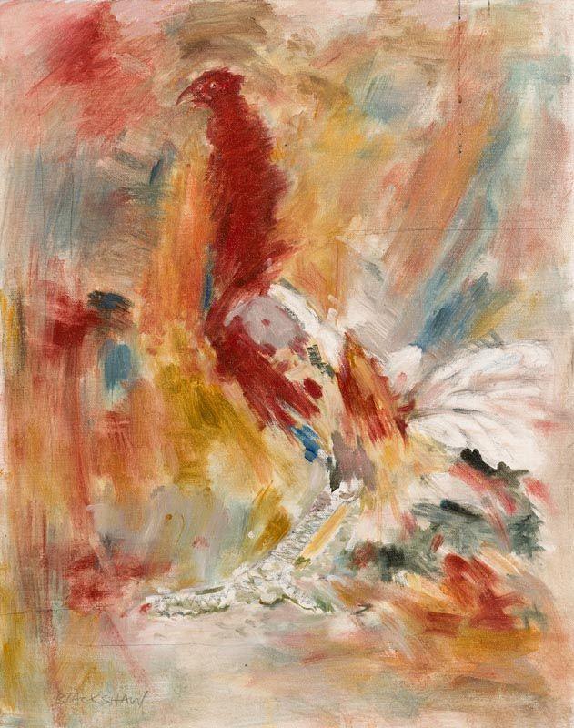 Basil Blackshaw, The Last Cockerel in Monaghan at Morgan O'Driscoll Art Auctions