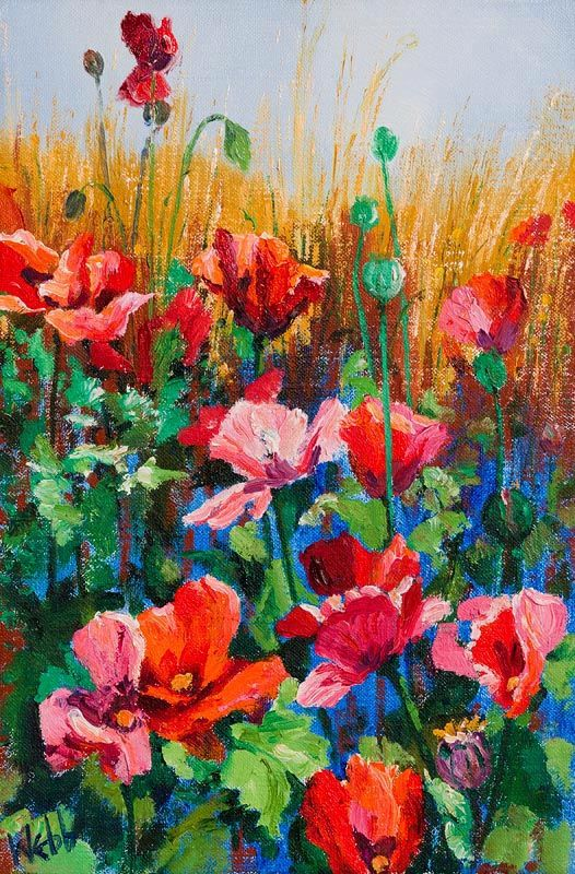 Kenneth Webb, Poppies in a Cornfield I at Morgan O'Driscoll Art Auctions