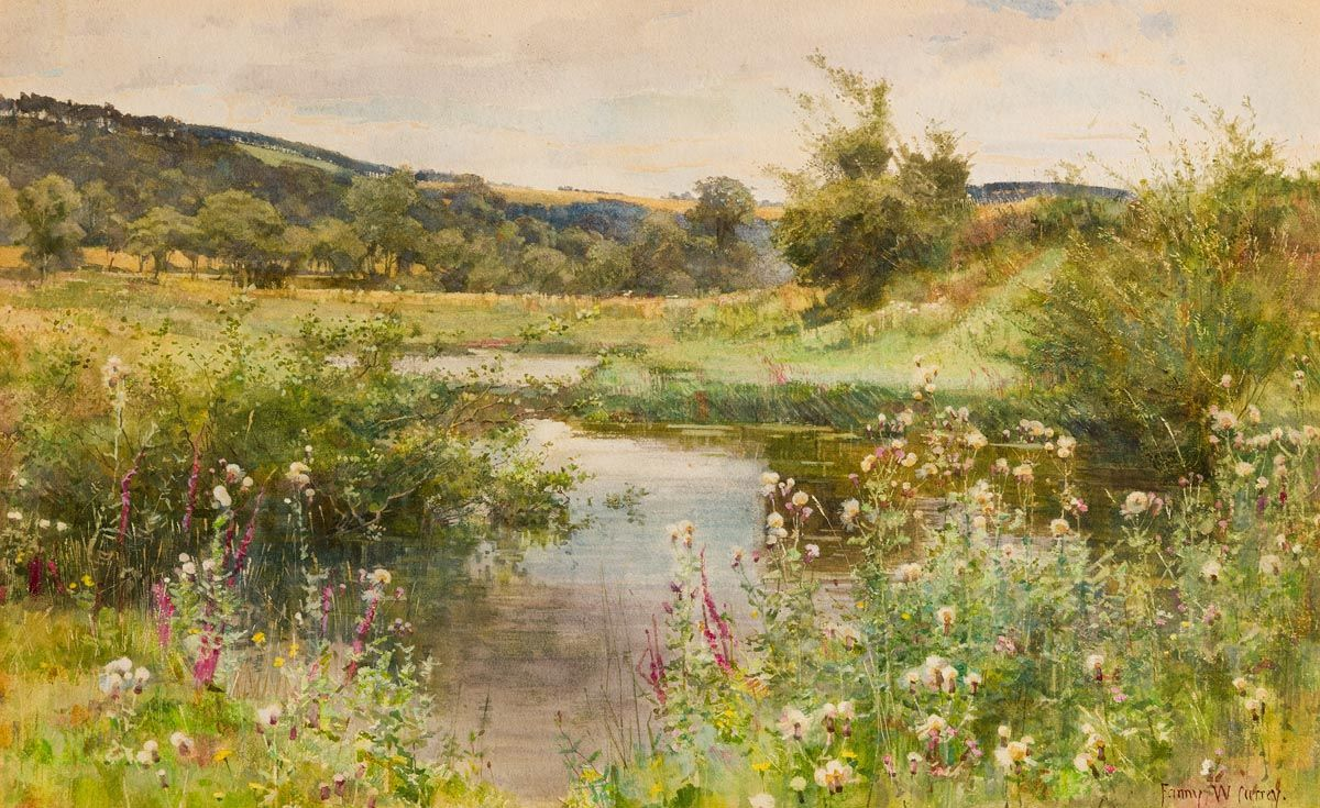 Fanny Wilmot Currey, Meandering Stream at Morgan O'Driscoll Art Auctions