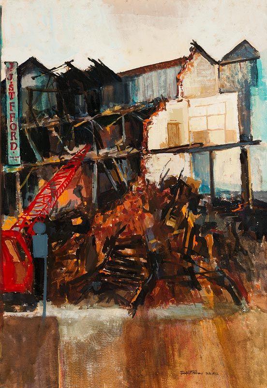 Joseph McWilliams, Demolition Old Belfast, Union Street (1972) at Morgan O'Driscoll Art Auctions