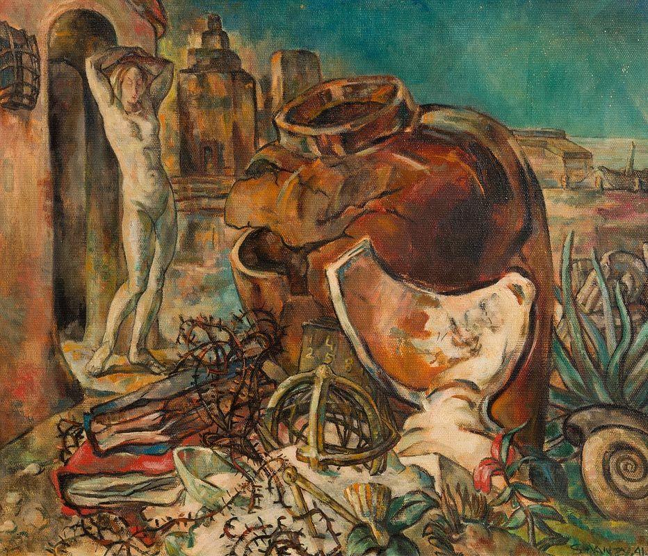 Mary Swanzy, Sleep Walker (1941) at Morgan O'Driscoll Art Auctions