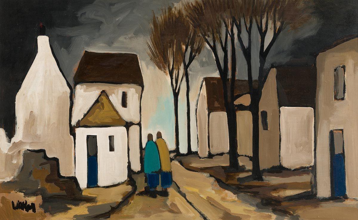 Markey Robinson, Strolling through the Village at Morgan O'Driscoll Art Auctions