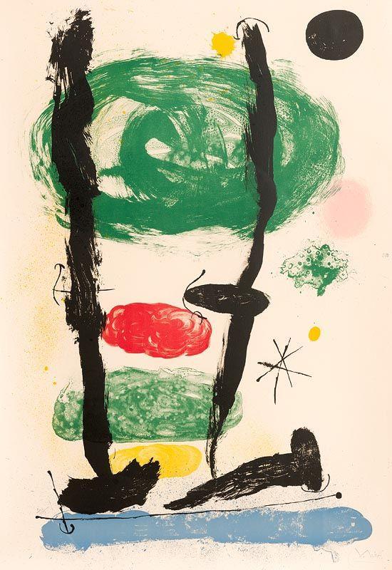 Joan Miro, Les Guetteurs (1964) at Morgan O'Driscoll Art Auctions