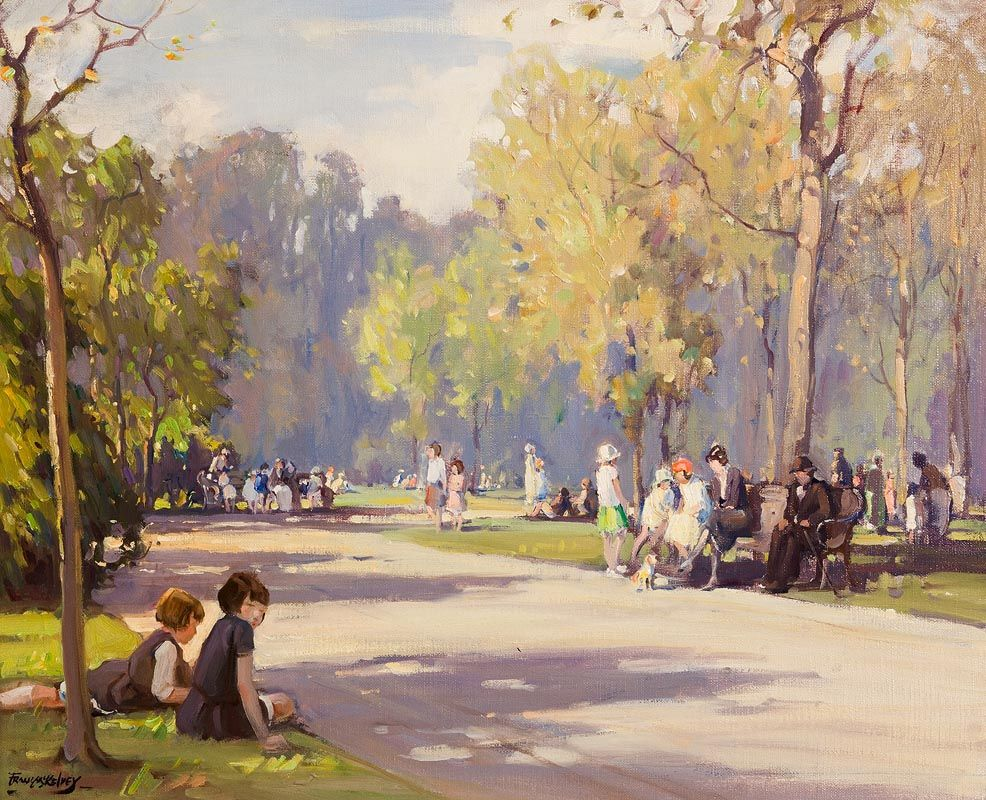 Frank McKelvey, Children in The Park at Morgan O'Driscoll Art Auctions