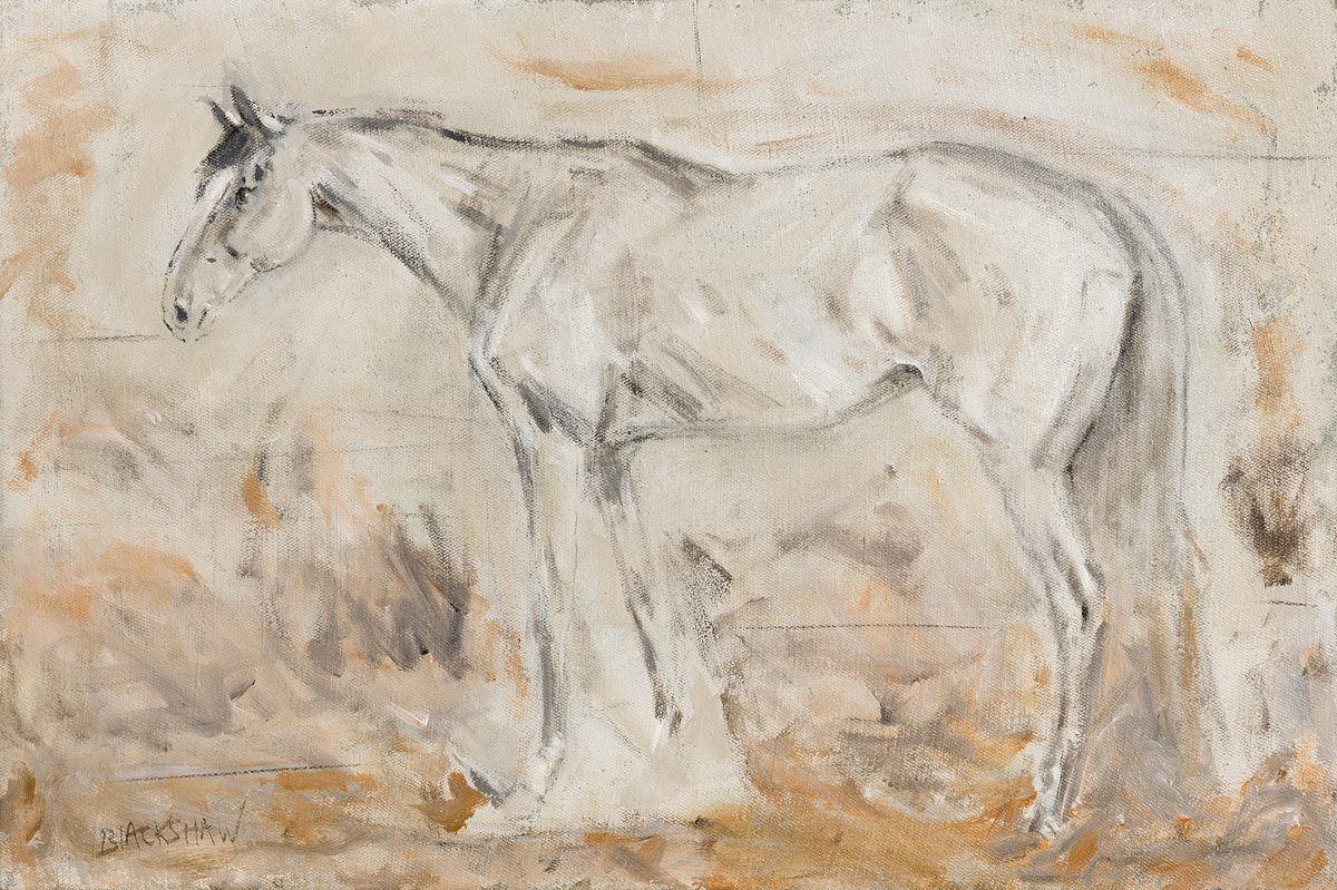 Basil Blackshaw, Grey Chaser at Morgan O'Driscoll Art Auctions