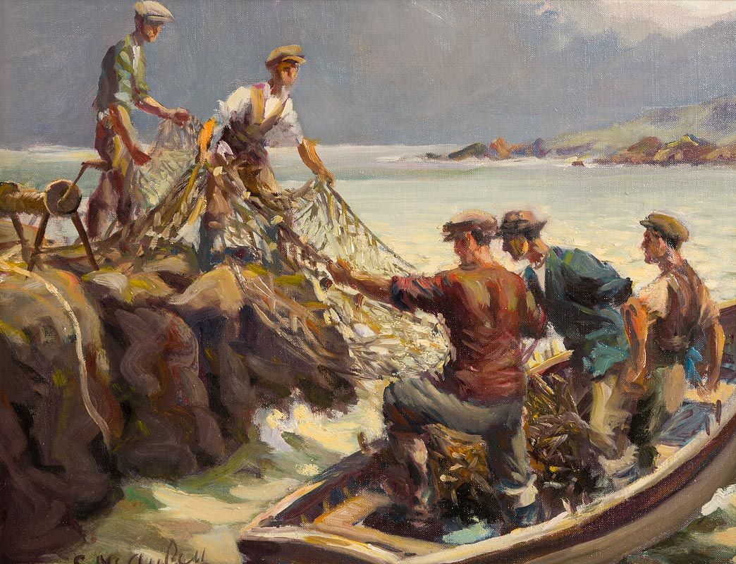 Charles J. McAuley, Unloading the Catch at Morgan O'Driscoll Art Auctions